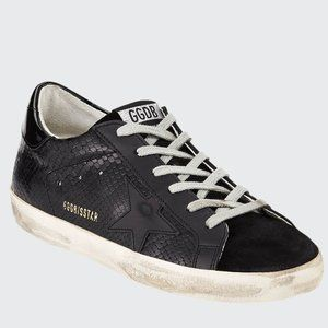 GOLDEN GOOSE Superstar Tonal Leather Sneakers 36
